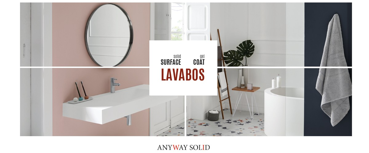 LAVABOS Solid Surface - Gel Coat
